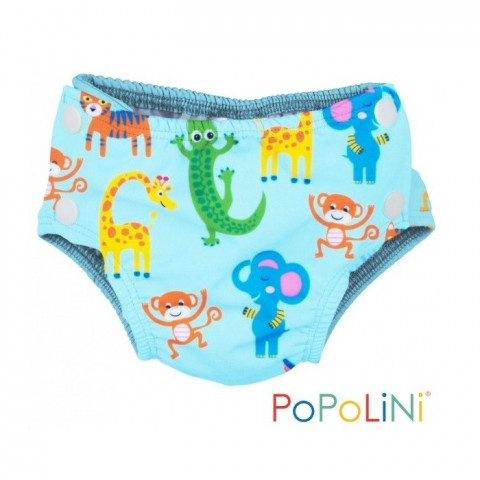 Couche piscine sea monster, maillot de bain lavable bébé anti fuite popolini