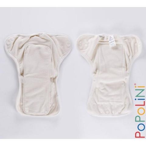 Couche lavable evolutive Onesize en coton bio popolini