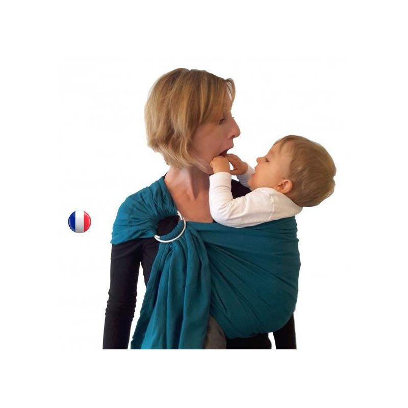 Colima-sling BIO emeraude, hamac de portage bébé ecologique Colimaçon et cie