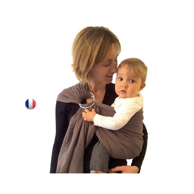 Colima-sling BIO gris paris, hamac de portage bébé ecologique Colimaçon et cie