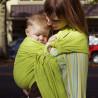 Colima-sling BIO vert anis, hamac de portage bébé ecologique Colimaçon et cie
