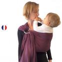 Colima-sling BIO prune, hamac de portage bébé ecologique Colimaçon et cie