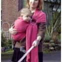 Colima-sling BIO framboise, hamac de portage bébé ecologique Colimaçon et cie