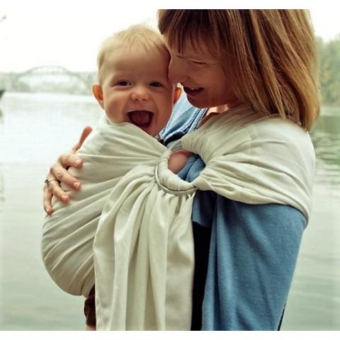 Colima-sling BIO ecru naturel, hamac de portage bébé ecologique Colimaçon et cie