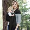 Colima-sling BIO noir, hamac de portage bébé ecologique Colimaçon et cie