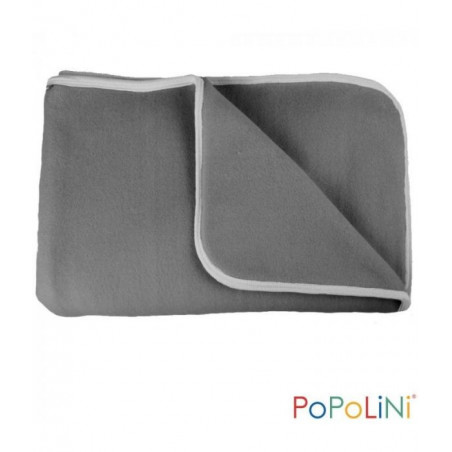 Couverture polaire de coton bio, gris anthracite pour bébé IOBIO de popolini