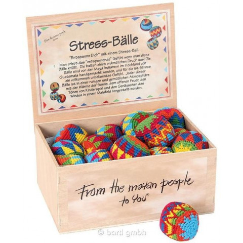 Balle de jonglage en coton crocheté