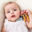 Hochet pieuvre en crochet, coton bio jouet ecologique et ethique Hoppa
