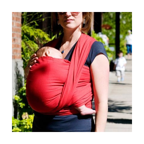 Echarpe de portage bio rouge, Colimaçon et Cie