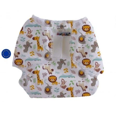 Culotte de protection impermeable Popowrap Wildlife, pour couche lavable Popolini