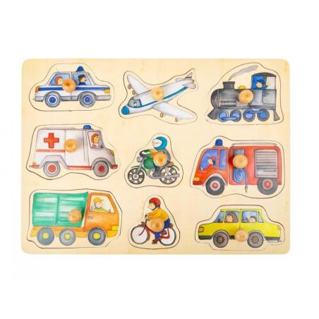 Puzzle à encastrer vehicules