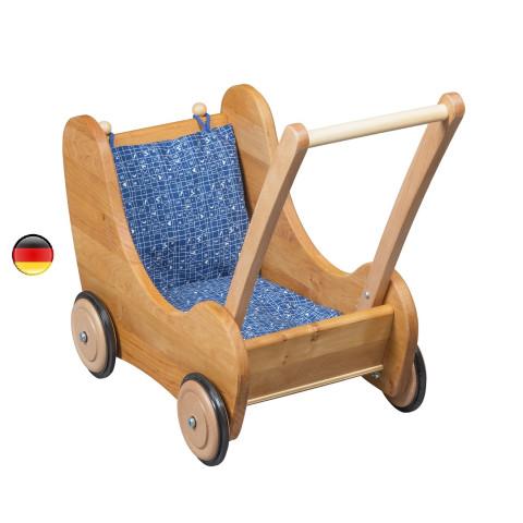 landau de poupée, poussette de marche à frein, jouet en bois steiner waldorf de Verneuer allemagne