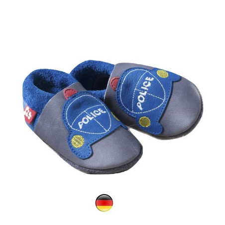 Chausson cuir Police 32/33,  Pololo