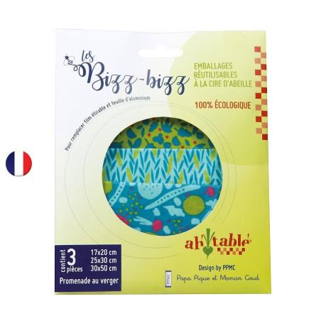 Bizz-Bizz, Emballage Réutilisable coton ciré