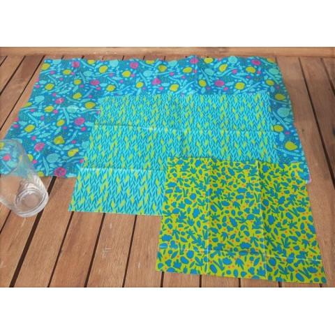 Bizz-Bizz  Ah table Emballage Réutilisable en coton ciré remplace film alimentaire et aluminium