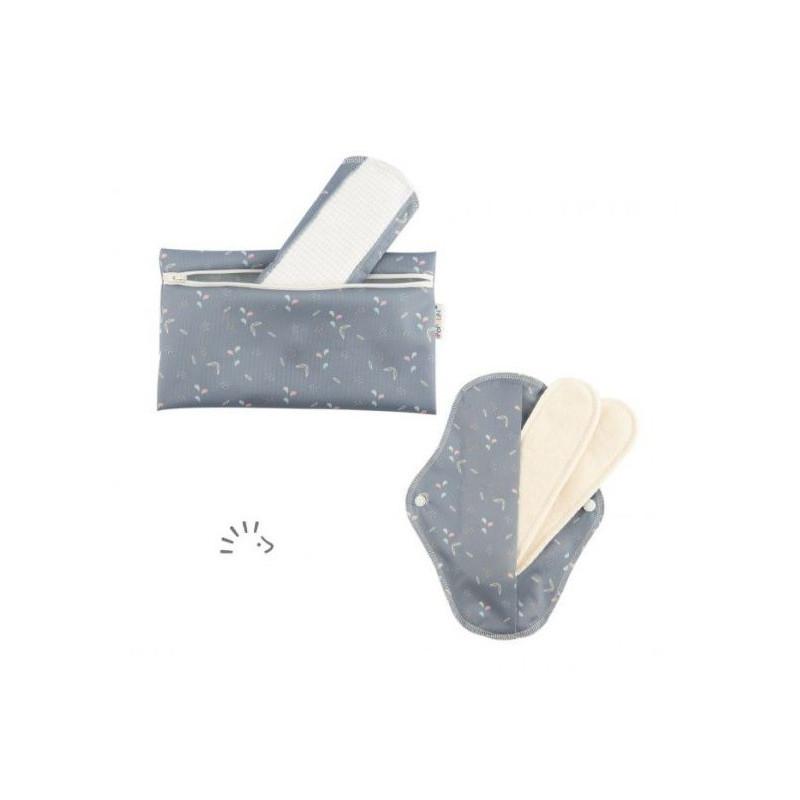 serviette hygienique lavable en coton bio imperméable et modulable de popolini