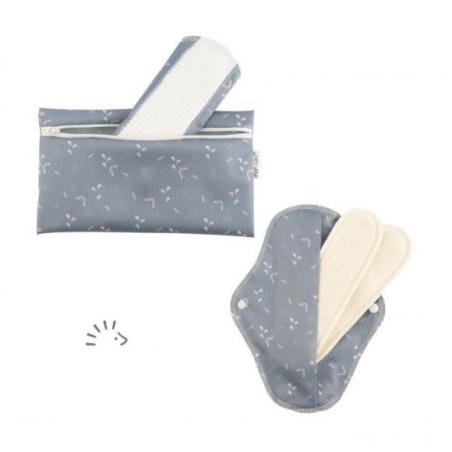 Flexi, Serviettes hygiéniques lavables impermeable bio x2