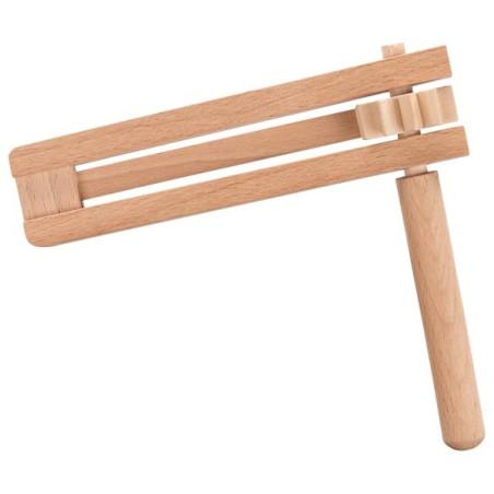Crecelle, instrument en bois