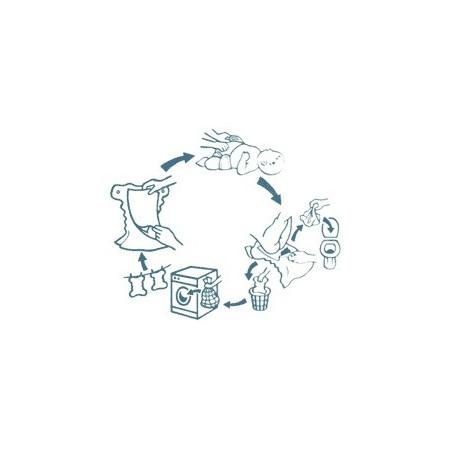 Lot complet couches lavables chanvre et coton bio Kidego