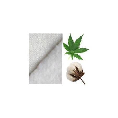 Tissu molleton de chanvre-coton bio
