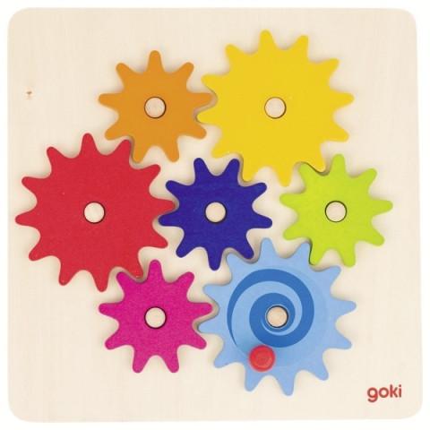 jeu des Engrenages,  puzzle bois goki