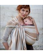 hamac sling de portage, porte bébé physiologique en tissu